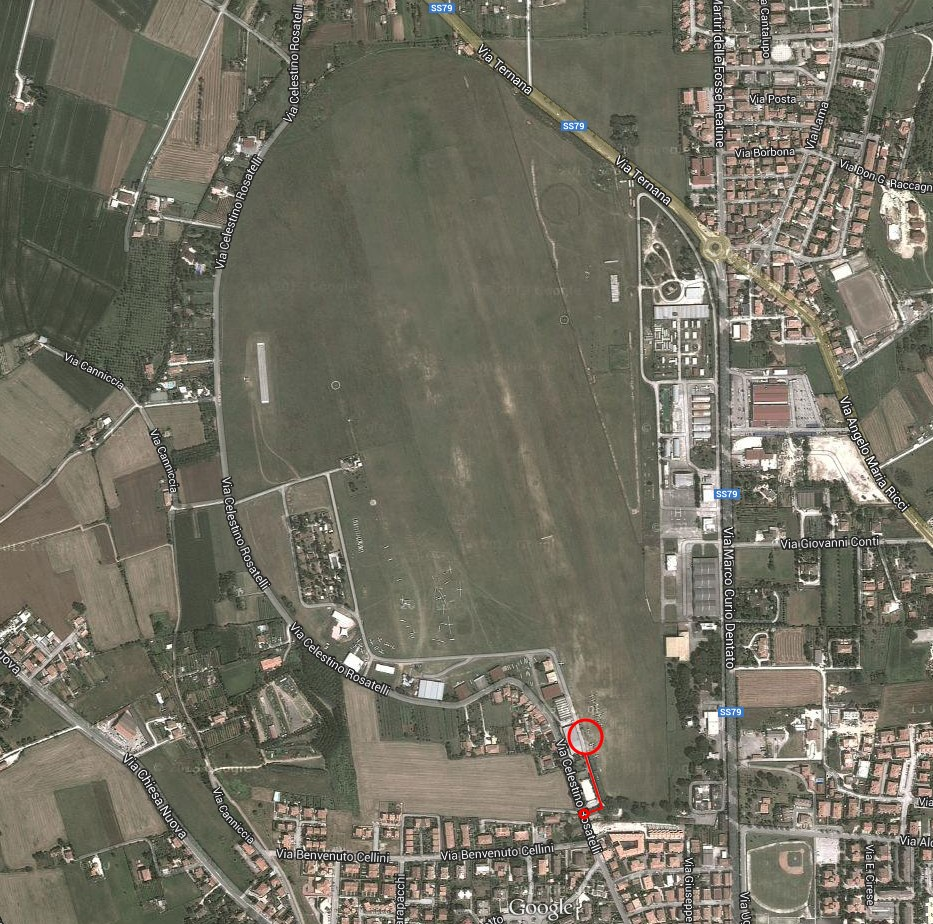 Mappa Aero Club Rieti