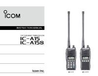 Radio Portatile ICOM – Manuale Istruzioni IC-A15_S_IM