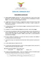 Cremona 22 Giugno 2014 – Regolamento