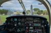 Il Cockpit del Piper reatino con marche D-ECJI.