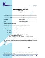 Seminario di aggiornamento per Istruttori di Aliante – Novembre 2014 – Modulo di Iscrizione
