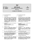AIP ITALIA – Servizio Informazioni Aeronautiche – AIC A 14-2014 A14 – Implementazione SERA