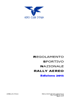 Campionato Aereo 2015 – REGOLAMENTO RALLY 2015