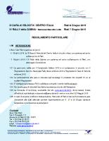 Regolamento Particolare – IV Rally della Sabina – Garà di Velocità Volo a Motore – Rieti 2015