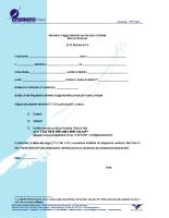 Seminario di Aggiornamento Istruttori Volo a Vela 20 e 21 Febbraio 2016 Modulo di Iscrizione