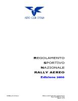 Regolamento Sportivo Nazionale Rally Aereo – Edizione 2016