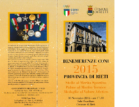 Benemerenze CONI 2015