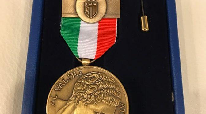 Simone Crisarà, Medaglia di Bronzo al Valore Atletico